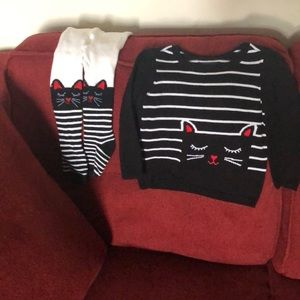 Knit sweater with matching tights‼️PRICE DROP‼️